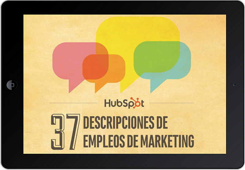 Descripciones de empleos de marketing