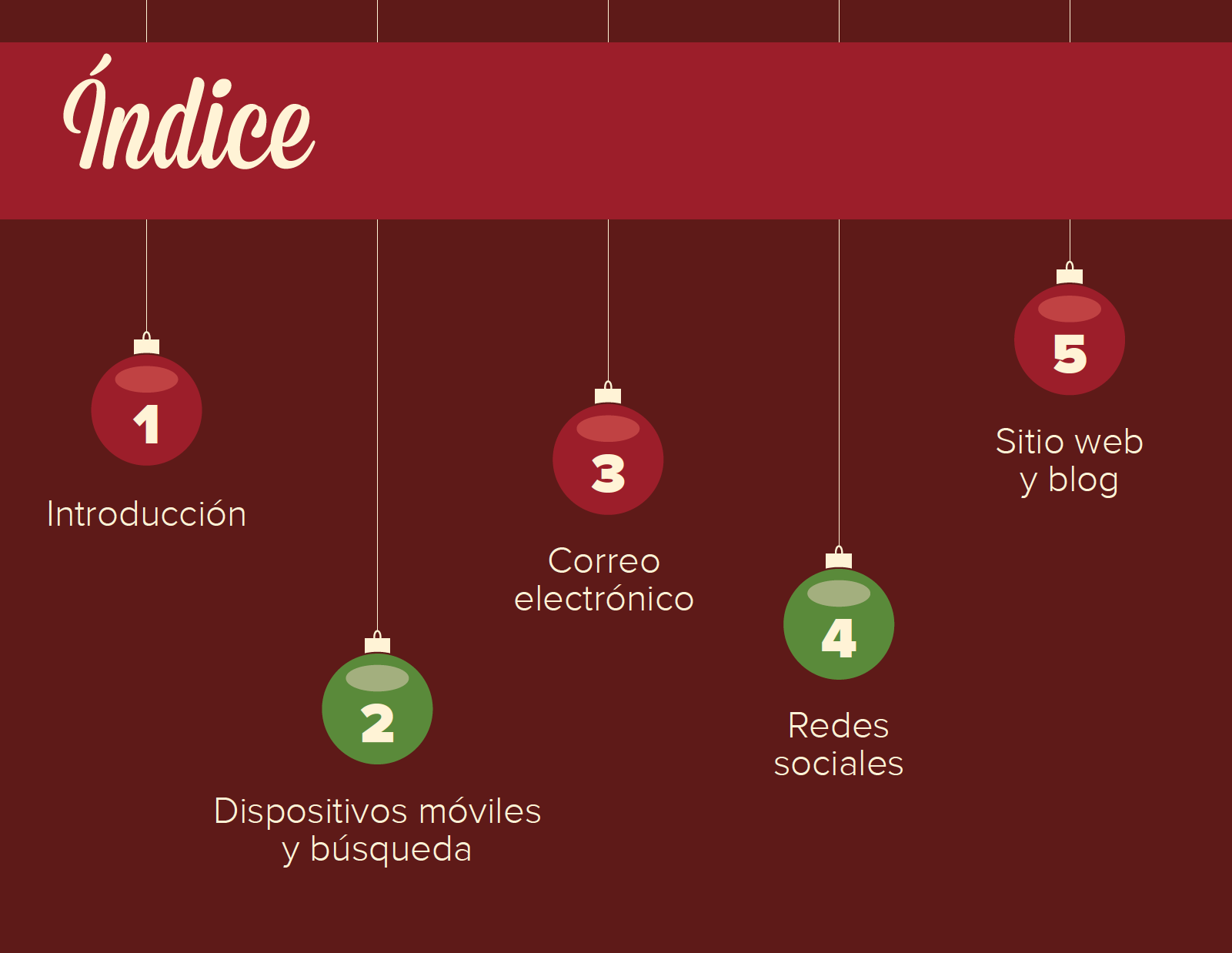 Tendencias de la temporada navideña