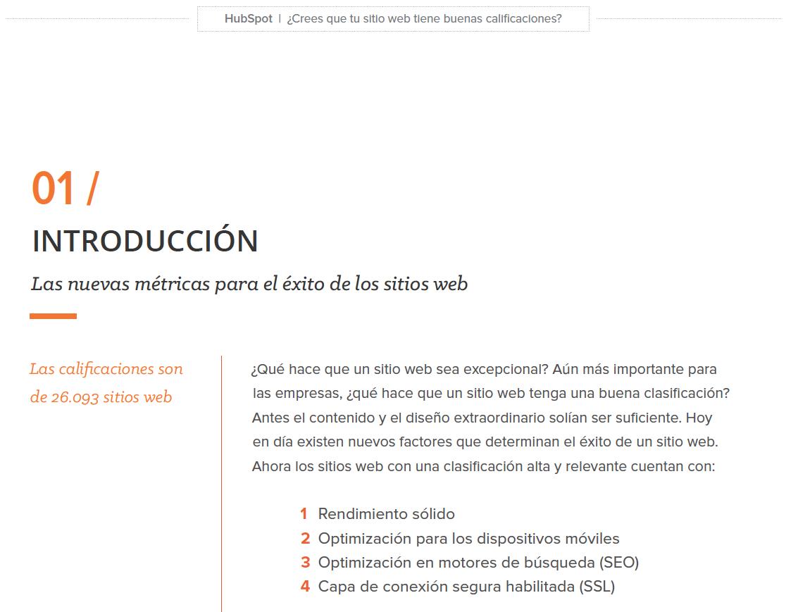 Calificacion de tu sitio web