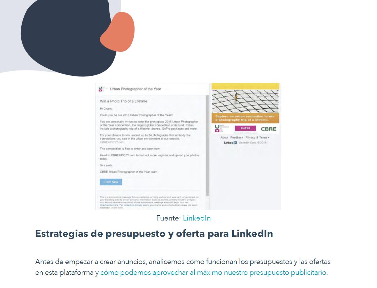 Cómo crear el anuncio perfecto en LinkedIn - contenido