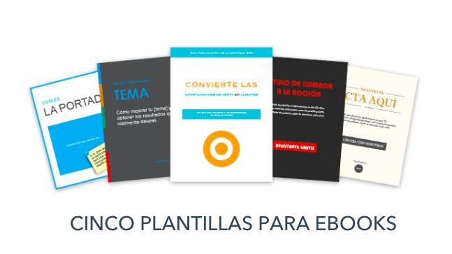 Cinco plantillas para ebooks