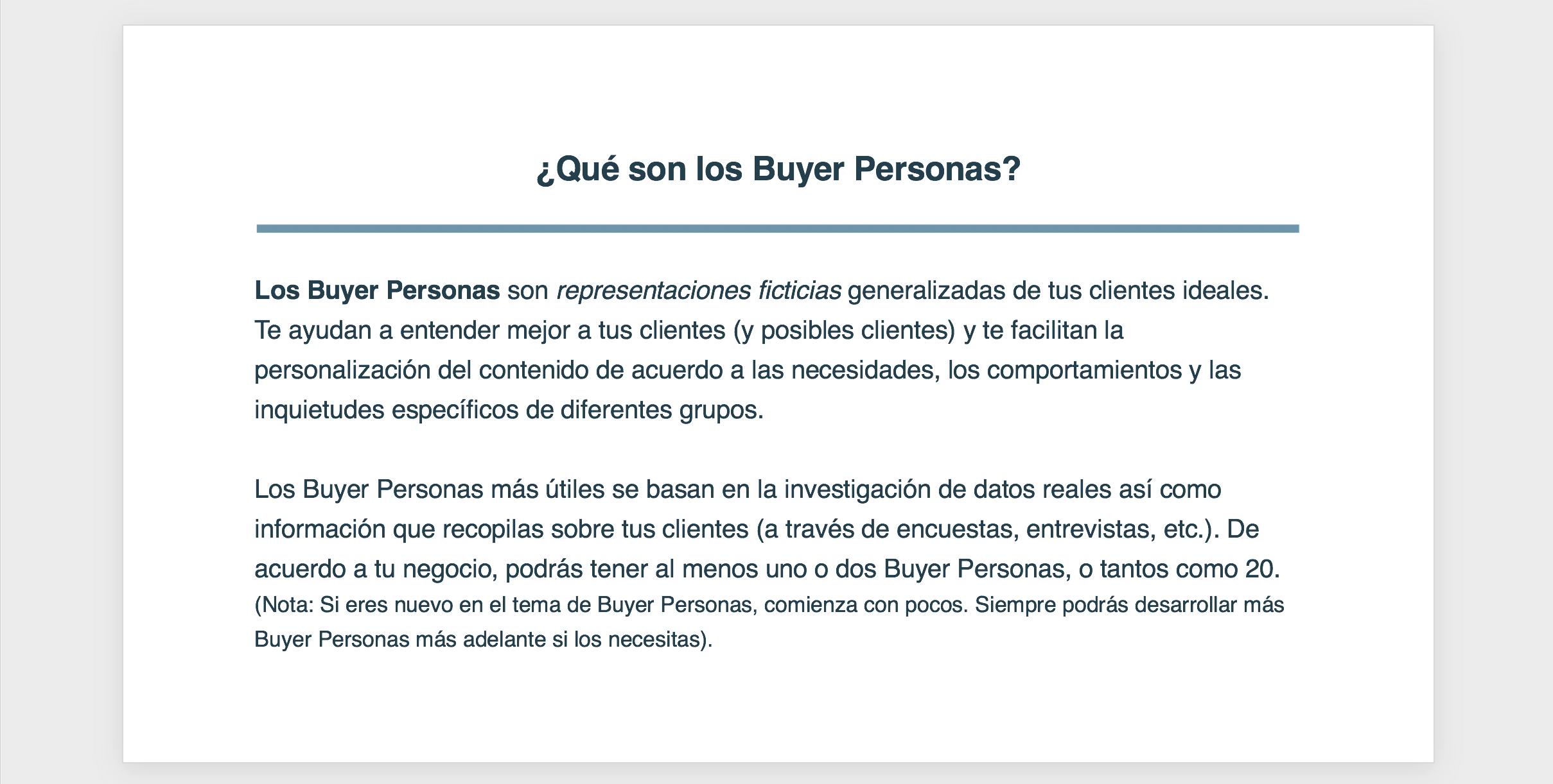 Buyer Persona 1