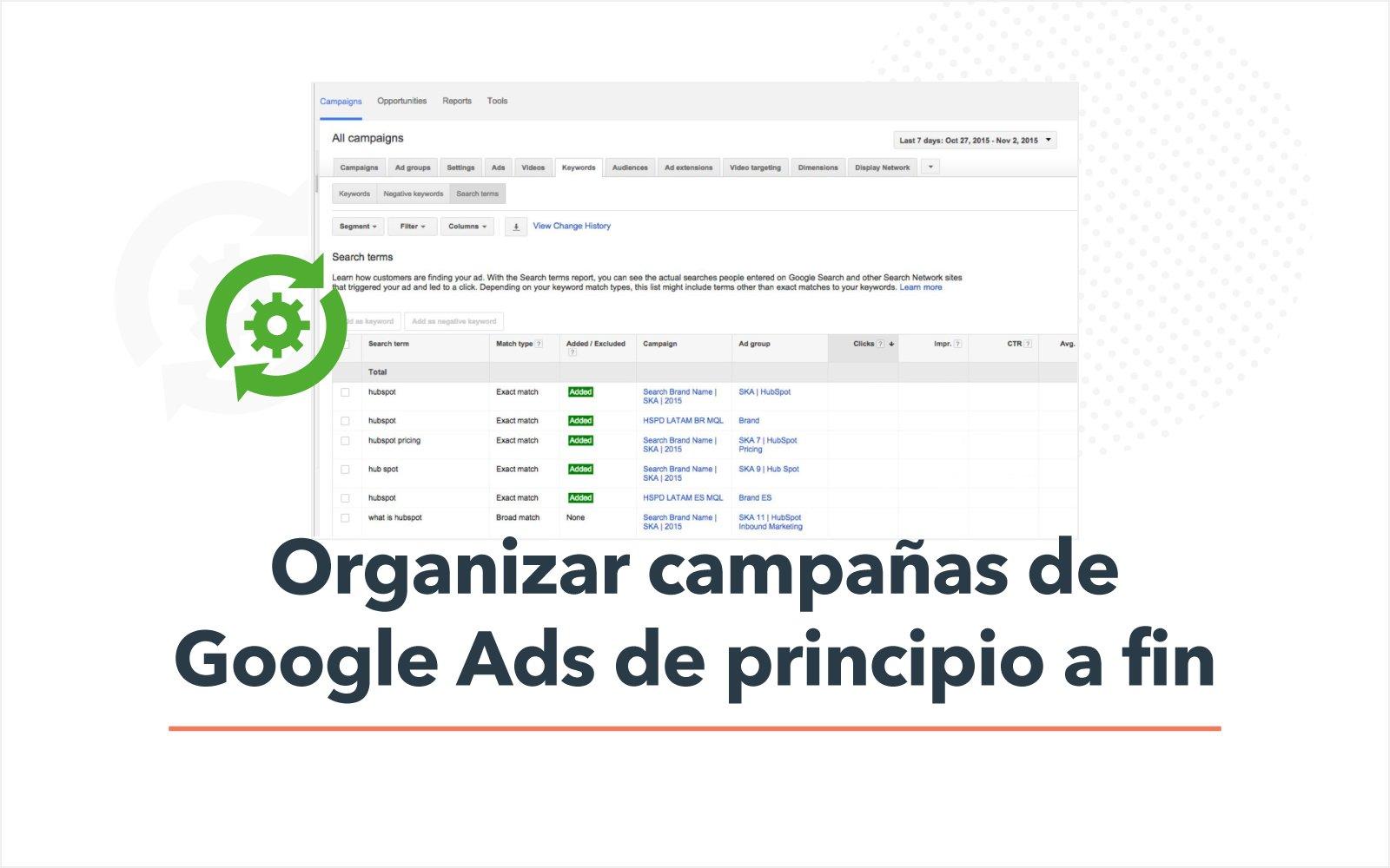 Cómo organizar campañas de Google Ads