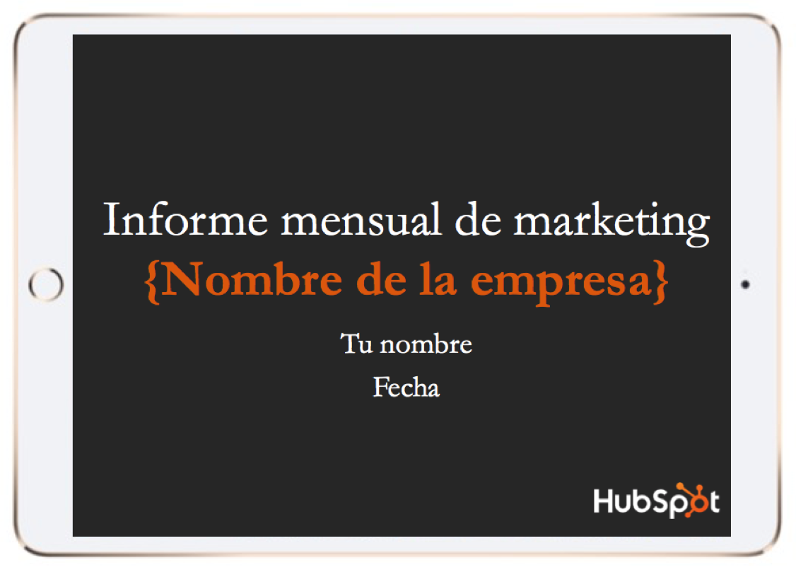 Informe mensual de marketing