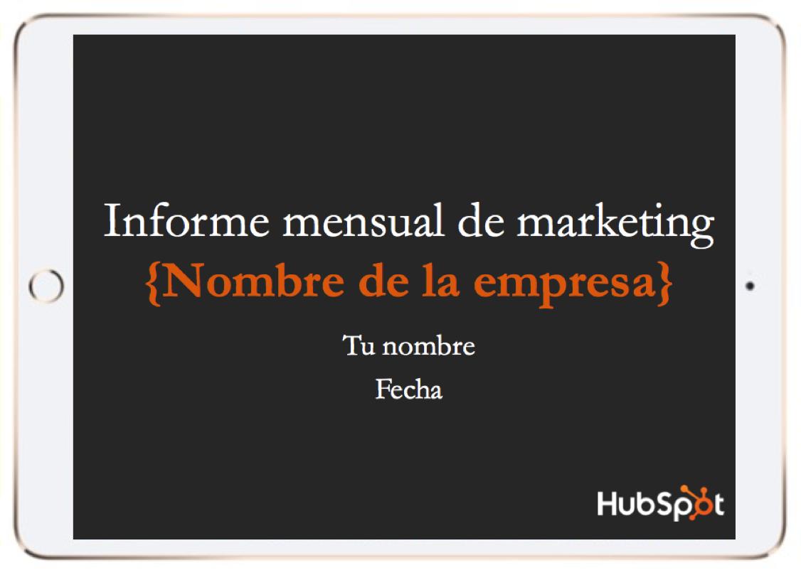 Informe mensual de marketing
