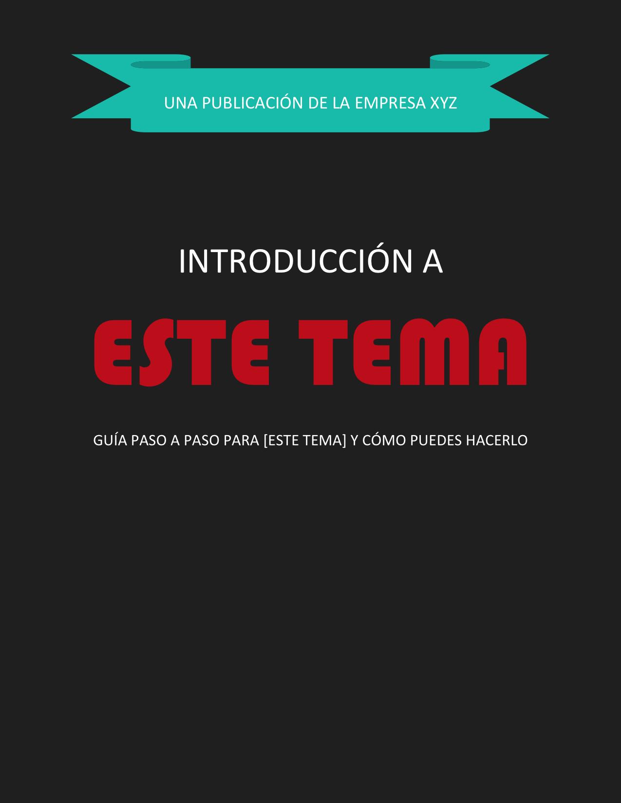 Plantillas gratis para crear ebooks