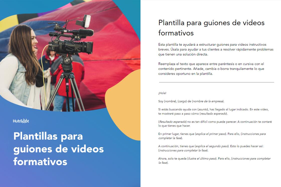 Plantillas para guiones de videos educativos